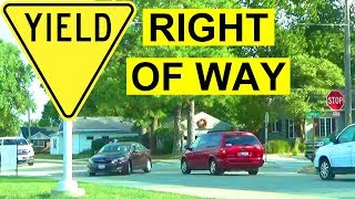 How To Yield The Right Of Way: 4-Way Stop Basic Rules & Best Practices For Safe Driving To Pass Test