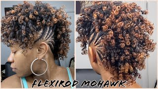 113 Watch Me Flexirod Mohawk | Big Announcement 🗣🎤 | Braided Mohawk On Type 4 Natural Hair