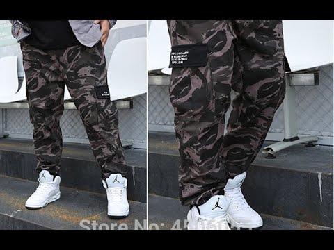 Камуфляжные штаны брюки-карго джоггеры Military мужские хлопковые спортивные штаны