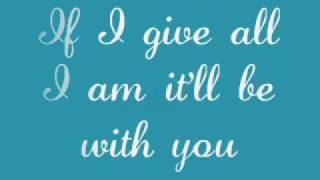 Jordin Sparks - Worth The Wait (Lyrics)