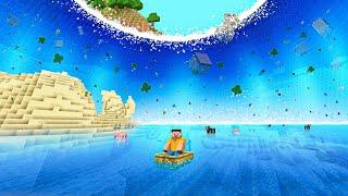 Surviving THE BIGGEST WATER FLOOD In Minecraft!