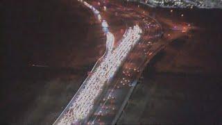 VIDEO: Deadly crash causes traffic jam on Loop 101
