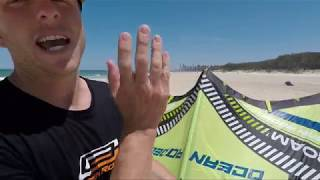 How to connect your Bar and Lines Downwind of your Kite. Kitesurfing setup Tutorial