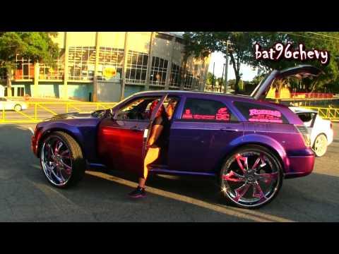 "FEMALE'S Chameleon Dodge Magnum on 32"" Amani Forged Wheels, COMPLETE CUSTOM - HD"