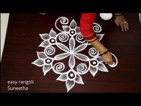 easy muggulu rangoli design peacock theme by easy rangoli