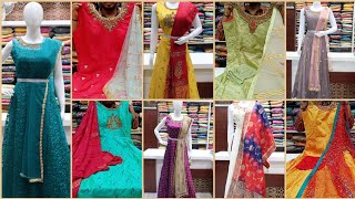 Floor Length Party Wear Dresses With Full Flair @ Rk Brothers/KPHB,Hyderabad /Rk Collections