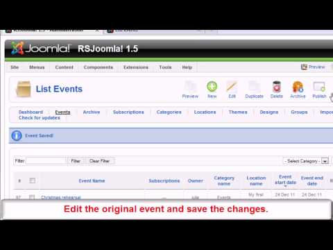 Ep. 55 - Create recurring events in Joomla! with RSEvents!