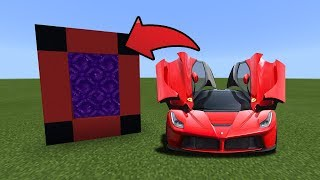 How To Make a Portal to the FERRARI Dimension in MCPE (Minecraft PE)