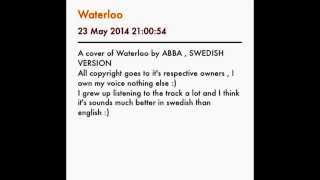 A cover of Waterloo by ABBA (swedish version)