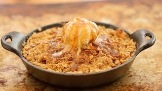 Caramel Apple Crisp with Cinnamon Ice Cream (No Machine) - Gemma