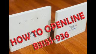 How to DEBRAND & OPENLINE B315s-936 Modem v3 2019(Tagalog Tutorial)