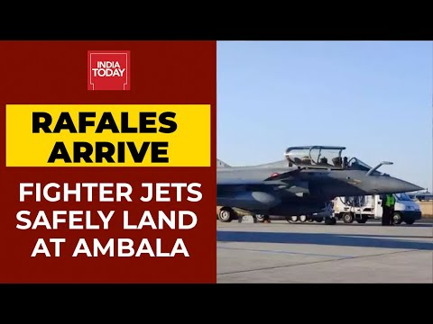 rafale fighter jets land at iaf airbase in ambala breaking news