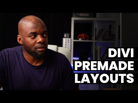 How to use Divi premade layouts