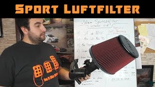 how much HP do you gain with a sports air filter - cold air intake