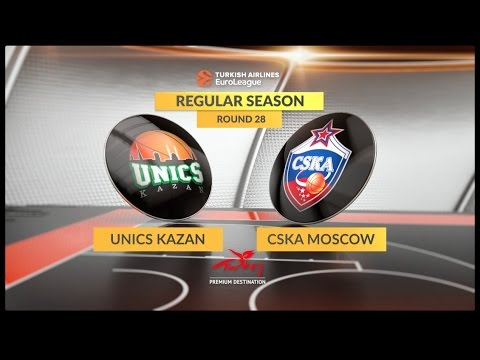 EuroLeague Highlights RS Round 28: Unics Kazan 74-85 CSKA Moscow