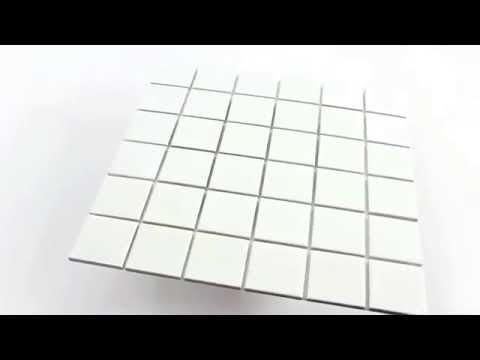 Keramik Mosaik Fliesen Weiss Glänzend