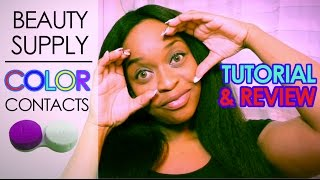 $20 Beauty Supply Colored Contacts Review!