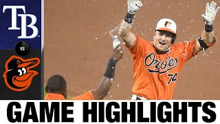 Pat Valaika Wins It In 11th For The Os | Orioles-Rays Game Highlights 8/1/2/20