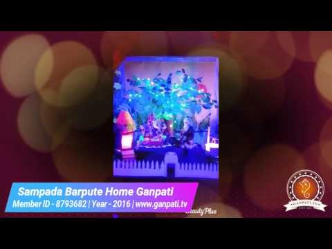 Sampada Barpute Home Ganpati Decoration Video