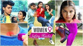 9 Women SAFETY & SELF DEFENCE Hacks ... | #LifeSavingHacks #Fun #Anaysa
