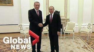 Vladimir Putin, Tayyip Erdogan meet in the Kremlin