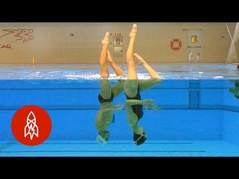 Sensational Synchronized Swimmer Smashing Stereotypes