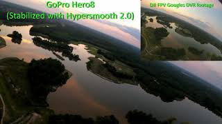 ZOHD Talon Rebel GT - Maiden Flight - Hero 8 Hypersmooth vs Non Stabilized footage DJI FPV DVR