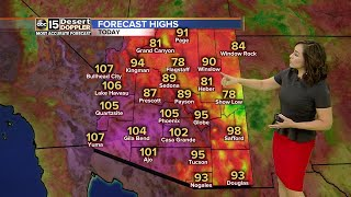 High of 105 expected in Phoenix on Wednesday