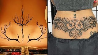 Attractive Lower Back Tattoo Design Ideas For Girls | Lower Back Tattoo For Women