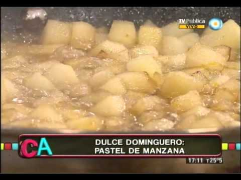 Pastel de manzana frito