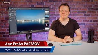 Asus ProArt PA278QV   Günstiger sRGB-Monitor für Fotografen & Filmer [Werbung]