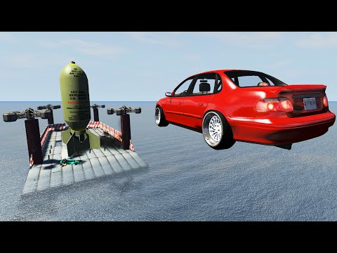 EXPERIMENT - Cars vs Nuclear Bombs #8 - BeamNG Drive | CrashTherapy