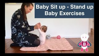 Baby Exercises and Activities ★ 3-6 months ★ Sit Up & Stand Up ★ Baby Development