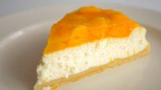 """Нежный сметанный пирог """"Как чизкейк"""" с персиками"""