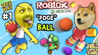 Let's Play ROBLOX #1: Doge the Dog Ball aka Dodgeball (FGTEEV Xbox One 4 Rounds of Fun)