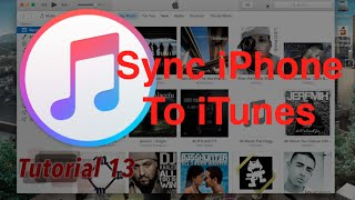 Sync Your iPhone in iTunes 12.4.1 | Tutorial 13
