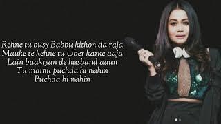 PUCHDA HI NAHIN (Lyrics) Neha Kakkar   Rohit   - YouTube