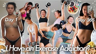 I Exercised EVERYDAY for 365 Days & What I Eat (THIS CHANGED MY LIFE) | before & after, regrets