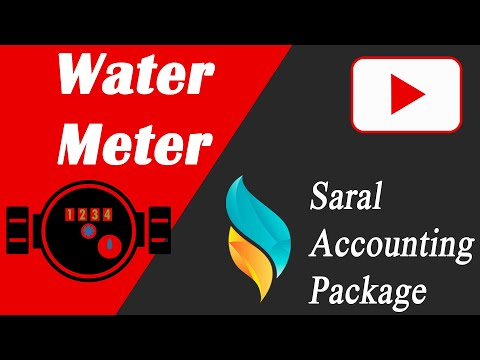 Water meter Entry & Report in Saral | Saral Accounting Package