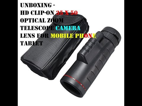 HD Clip-on 35 X 50 Optical Zoom Telescope Camera Lens For Mobile Phone Tablet Banggood