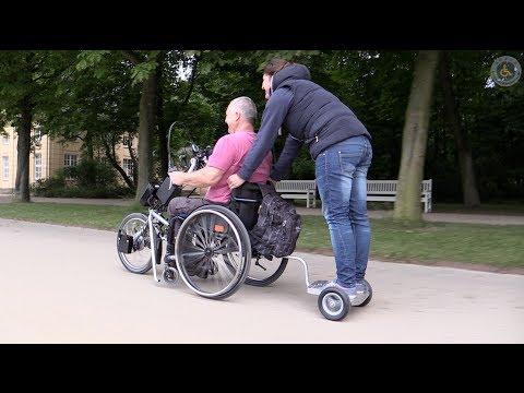 Anhänger Rollstuhl Handbike Test