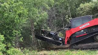 Blue Diamond Severe Duty Brush Cutter for Skid Steer demo by Swift Fox Industries