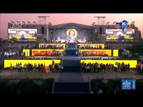 JMJ au Panama : accueil du pape François