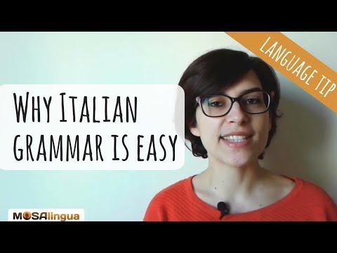 Why Italian Grammar Is Easy ? | Italian Grammar Hacks