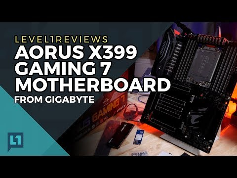 Aorus X399 Gaming 7 Motherboard Review + Linux Test