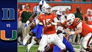Duke vs. Miami Football Highlights (2016)