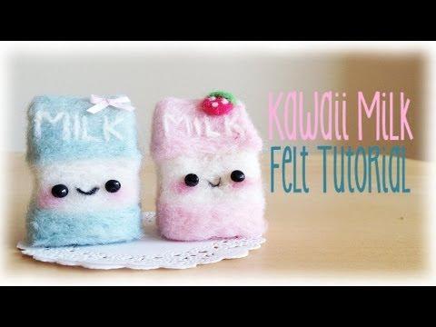 f05f508a1 Kawaii Needle Felting - Cute Milk Plushie Cartons