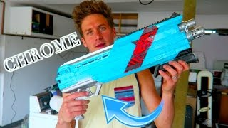 SWEET CHROME NERF GUN!