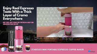 Hands-on Tutorial | How to DIY A Cup of Real Espresso Using STARESSO Mini Coffee Maker Machine