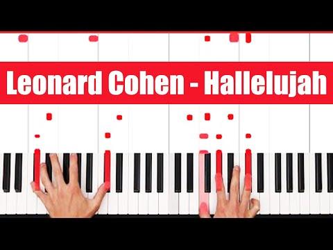 Hallelujah Leonard Cohen Piano Tutorial - EASY